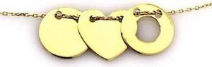 Lovrin Złoty naszyjnik 585 celebrytka z sercem kółeczko