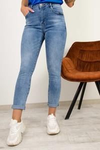 Niebieskie jeansy Olika z jeansu w stylu casual