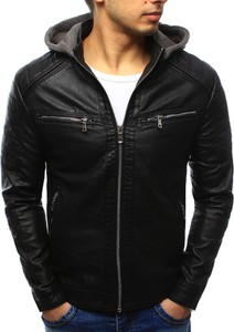Dstreet kurtka męska skórzana czarna (tx2070)