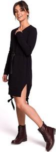 Sukienka Be z okrągłym dekoltem asymetryczna mini