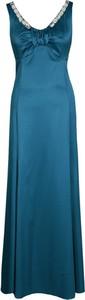 Sukienka Fokus na ramiączkach z dekoltem w kształcie litery v maxi