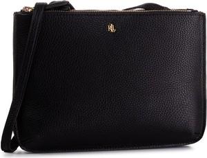 Czarna torebka Ralph Lauren średnia