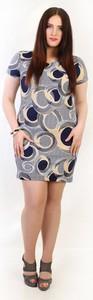 Sukienka Oscar Fashion z krótkim rękawem dla puszystych w street stylu