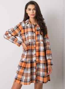Pomarańczowa sukienka Sheandher.pl mini