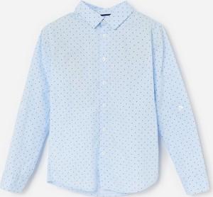 Niebieska koszula dziecięca Reserved w groszki