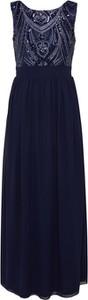 Granatowa sukienka Mela London z dekoltem w kształcie litery v z szyfonu bez rękawów