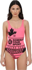 Różowy strój kąpielowy Dsquared2 z nadrukiem
