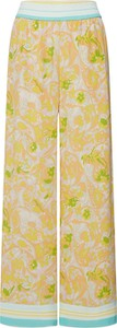 Żółte spodnie Samsøe & Samsøe z jedwabiu