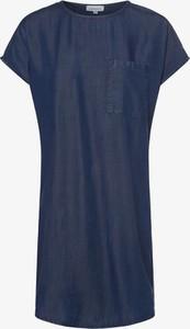 Niebieska sukienka ARMEDANGELS z okrągłym dekoltem mini prosta