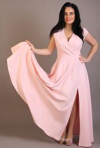 Sukienka Exclusive Line maxi z dekoltem w kształcie litery v rozkloszowana