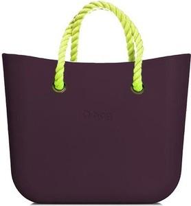Fioletowa torebka O Bag do ręki duża w młodzieżowym stylu