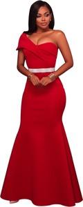 Elegrina sukienka maxi castor czerwona
