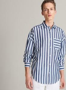 Koszula Reserved z długim rękawem z bawełny w stylu casual