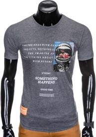 T-shirt Ombre Clothing z bawełny z krótkim rękawem w młodzieżowym stylu