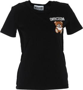 T-shirt Moschino z krótkim rękawem z okrągłym dekoltem z bawełny