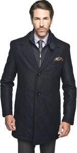 Szary płaszcz męski recman