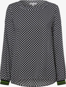 Czarna bluzka Marie Lund z okrągłym dekoltem