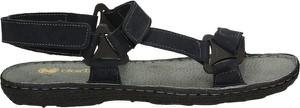 Czarne buty letnie męskie Darbut na rzepy