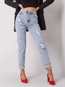 Niebieskie jeansy Promese z bawełny