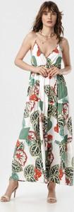 Sukienka born2be na ramiączkach z dekoltem w kształcie litery v maxi