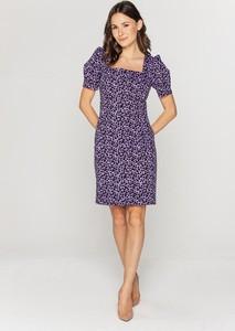 Fioletowa sukienka Lavard w stylu casual