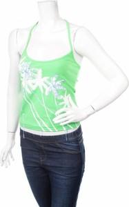 Zielony top Waxy By Miss Sixty z okrągłym dekoltem