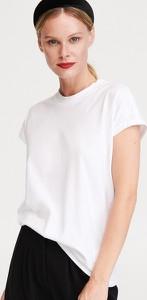 T-shirt Reserved z okrągłym dekoltem z krótkim rękawem z bawełny