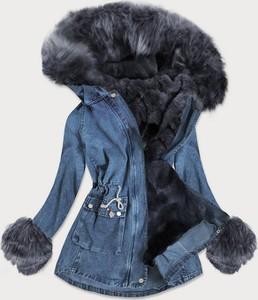 Niebieska kurtka Goodlookin.pl w stylu casual z jeansu