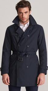 Granatowy płaszcz męski Reserved