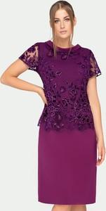Sukienka Tomasz Sar z okrągłym dekoltem z krótkim rękawem mini