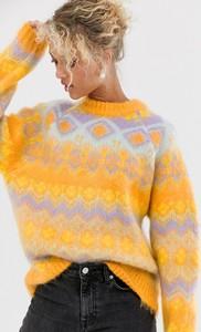 Sweter Asos z tkaniny w stylu casual