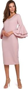 Sukienka Makover z długim rękawem