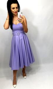 Sukienka livien.eu gorsetowa bez rękawów z tkaniny