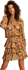 Sukienka Angell z długim rękawem z żakardu