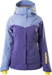 Fioletowa kurtka Elbrus narciarska z kapturem
