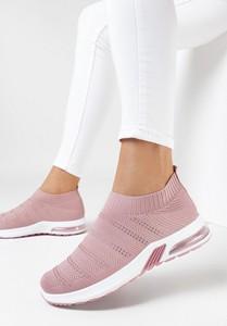 Buty sportowe born2be z zamszu z płaską podeszwą