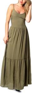 Zielona sukienka One.0 na ramiączkach
