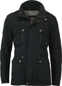 Czarna kurtka Gustaff w stylu casual z bawełny