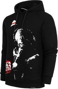 Czarna bluza Patriotic w młodzieżowym stylu z nadrukiem