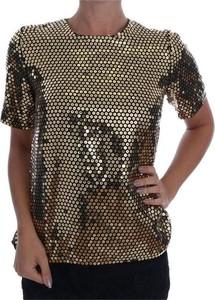 T-shirt Dolce & Gabbana z jedwabiu z krótkim rękawem