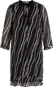 Czarna sukienka Marella z długim rękawem mini