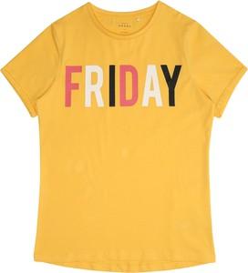 Żółta bluzka dziecięca Name it z krótkim rękawem