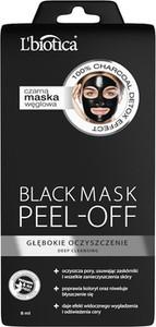 L'Biotica BLACK MASK PEEL- OFF -głębokie oczyszczanie 8 ml