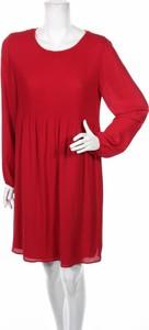 Sukienka Attesa z okrągłym dekoltem mini z długim rękawem
