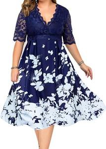 Granatowa sukienka Arilook