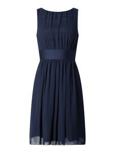 Sukienka Swing mini z satyny rozkloszowana