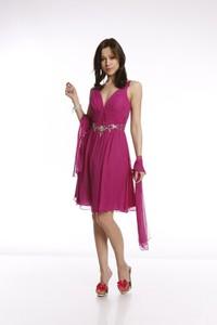 Różowa sukienka Fokus rozkloszowana z jedwabiu