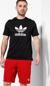 Czarny t-shirt Adidas z nadrukiem