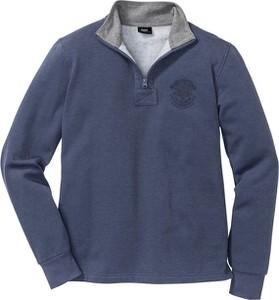 Niebieska bluza bonprix bpc bonprix collection w stylu casual