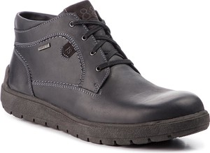 Czarne buty zimowe Josef Seibel ze skóry w stylu casual